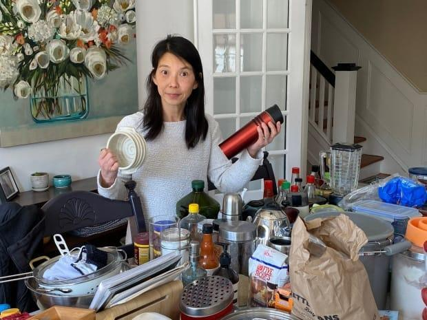 Mary Tsai is determined to declutter in order to prepare for kitchen renovations. She's one of the countless Canadians who've realized during COVID-19 that they've simply got too much stuff lying around. (Kirk Anderson - image credit)