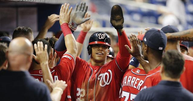 Washington Nationals' lineup for the series finale with the Miami Marlins