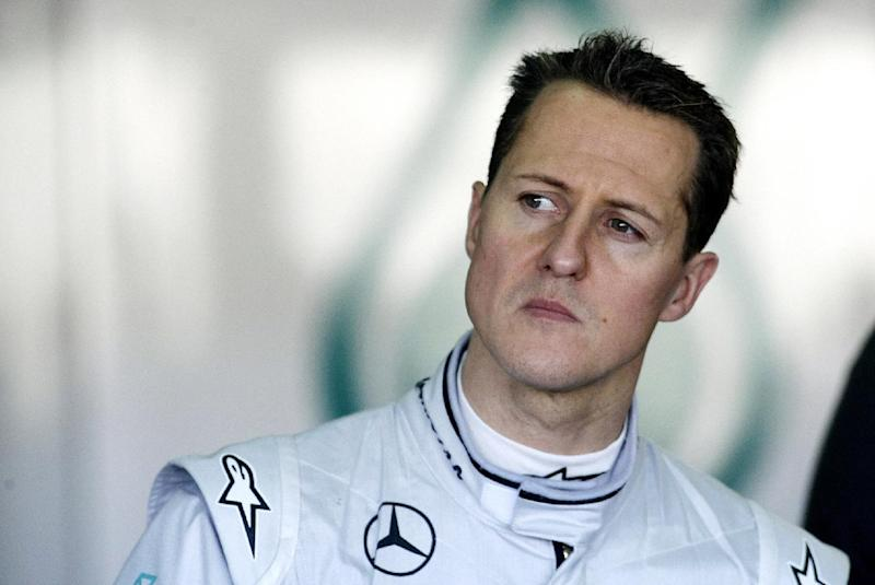 Michael Schumacher during a training session in Cheste, near Valencia on February 3, 2010