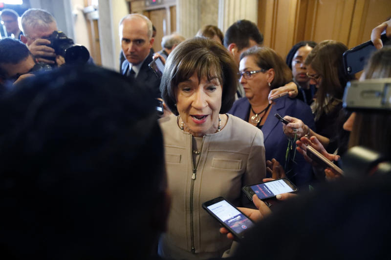 Senator Collins returns home after threatening letter found by her husband Featured