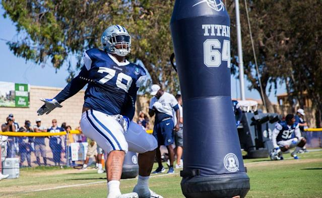 Will Cowboys rookie DT Trysten Hill see his first game action anytime soon?