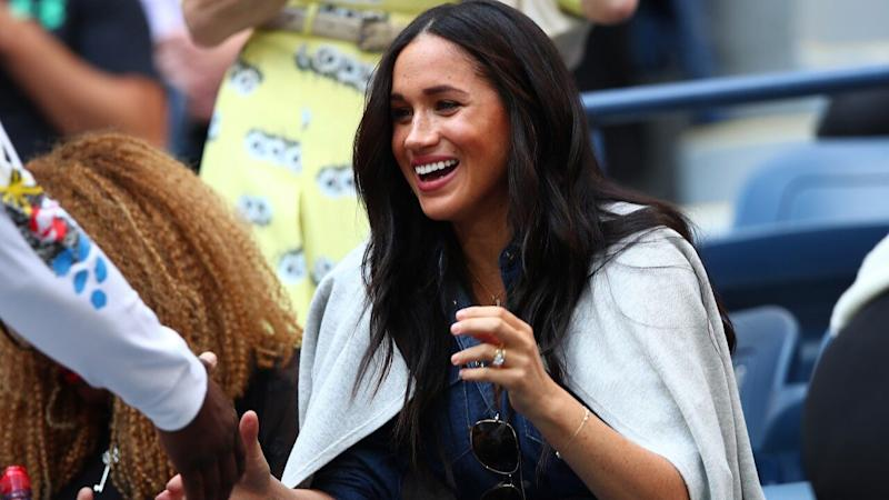 Meghan Markle Cheers on Serena Williams at U.S. Open Final -- See the Pics!