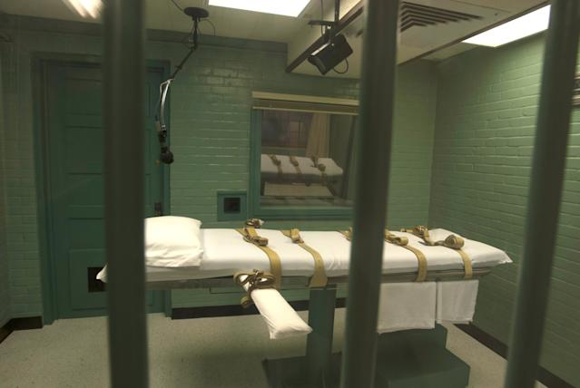 Death chamber in US