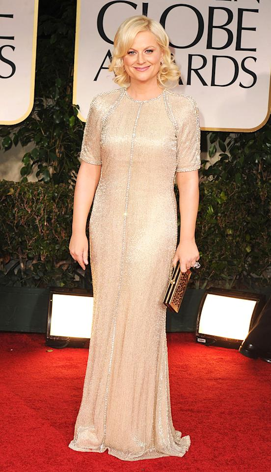 Amy Poehler arrives at the 69th Annual Golden Globe Awards in Beverly Hills, California, on January 15.