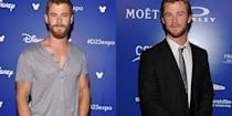<p><strong>Signature: </strong>Bulky muscles </p><p><strong>Without Signature: </strong>At the 2010 Australians in Film Breakthrough Awards with a pre-<em>Thor </em>physique. </p>