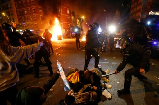 Twelve people were injured in the clashes