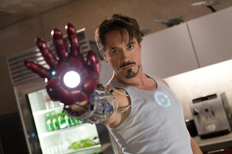 "In this undated file photo released by Paramount Pictures, Robert Downey Jr. is seen as billionaire industrialist Tony Stark aka Iron Man in the film, ""Iron Man.""   Walt Disney Co. said Monday, April 15, 2012 it will co-produce its next ""Iron Man"" movie with a Chinese partner in Hollywood's latest effort to forge closer ties with China's fast-growing film industry.  (AP Photo/Paramount Pictures, Zade Rosenthal) ** NO SALES **"