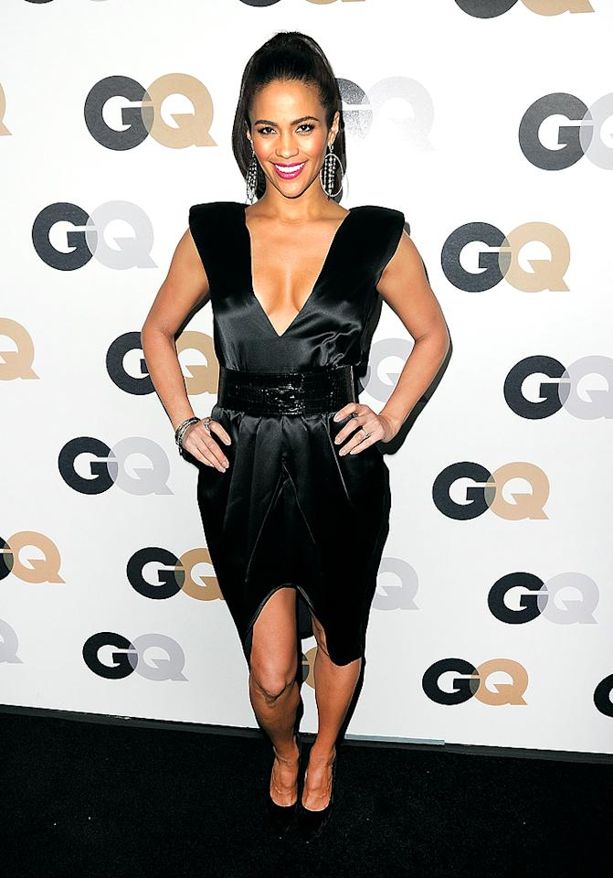 """Mission: Impossible - Ghost Protocol"" star Paula Patton flaunted her cleavage in an LBD at GQ's annual ""Men of the Year"" soiree (11/17/2011)"