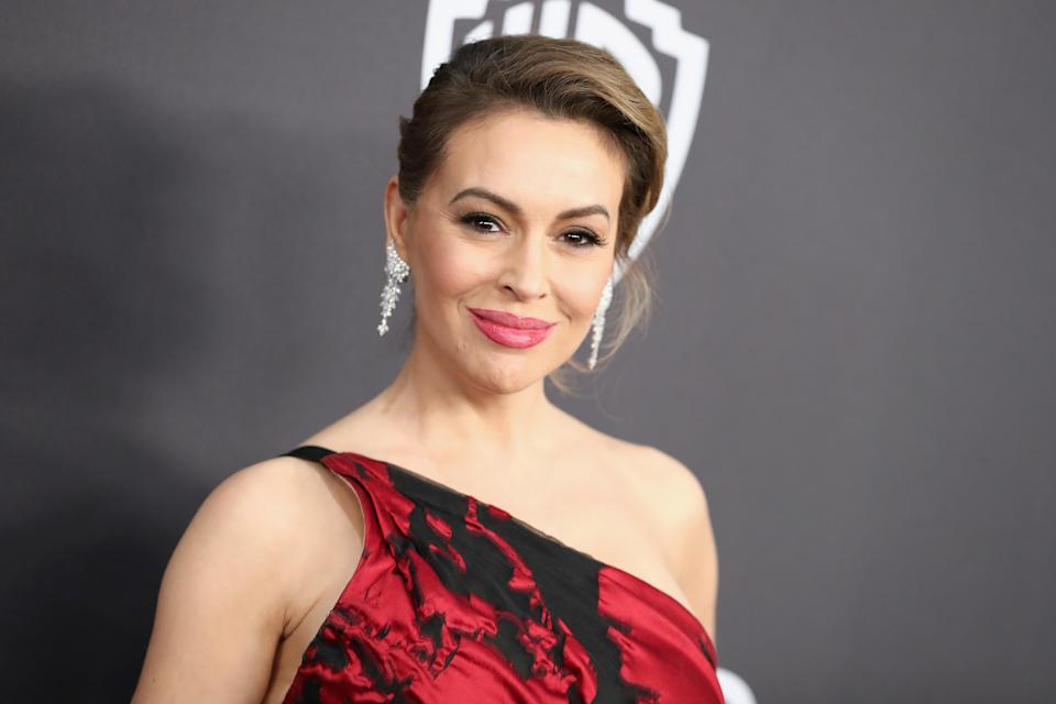 Alyssa Milano attends the InStyle and Warner Bros. Golden Globes After Party 2019 at The Beverly Hilton Hotel on Jan. 6, 2019 in Beverly Hills, Calif. (Photo: Getty Images)