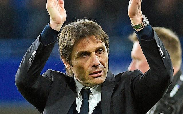 <span>Conte has warned his players not to let up</span> <span>Credit: EPA </span>
