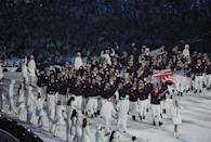 <p>Despite Vancouver's cold temperatures, Team USA still brought the heat to the opening ceremonies in chic navy jackets with red trim, matching mountain boots, and even more reindeer hats. </p>
