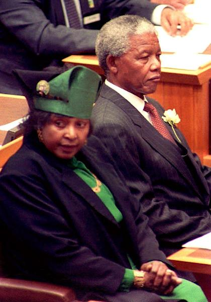 Nelson Mandela married his second wife Winnie in 1958 and they separated in 1992 (AFP Photo/PHILIP LITTLETON)