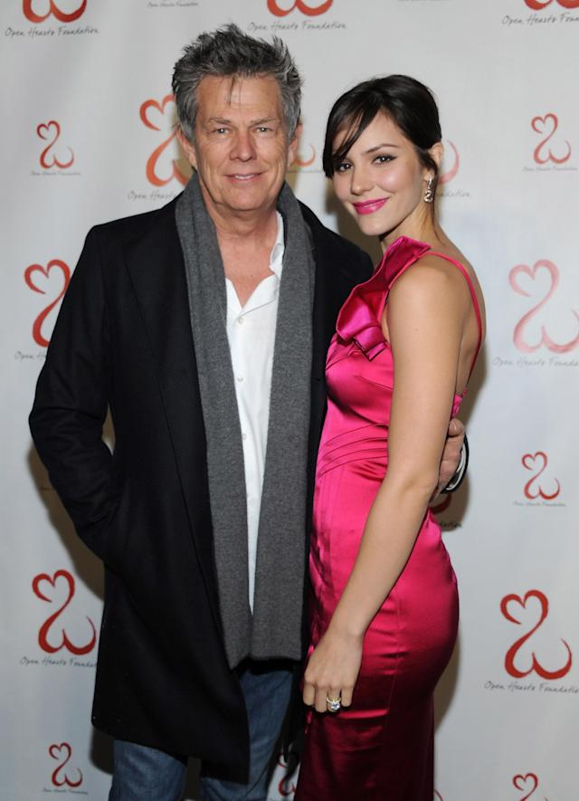 David Foster and Katharine McPhee are photographed together at an L.A. charity event on Feb. 19, 2011. (Photo: Angela Weiss/WireImage)