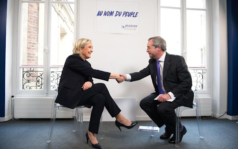 Marine Le Pen meets Nigel Farage this week in Paris - Credit: Eliot Blondet/Abaca Press/Eliot Blondet/Abaca Press