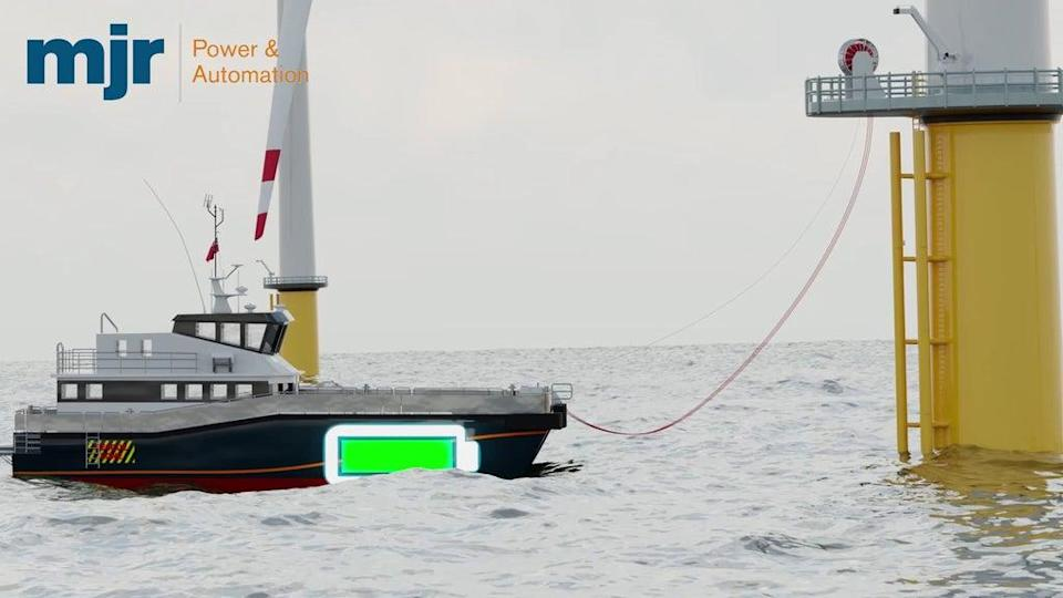 A proposed electric boat charging point attached to a wind turbine (DfT/PA) (PA Media)