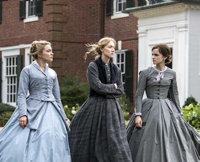 Florence Pugh, Saoirse Ronan and Emma Watson in <em>Little Women</em>. (Photo: Sony)