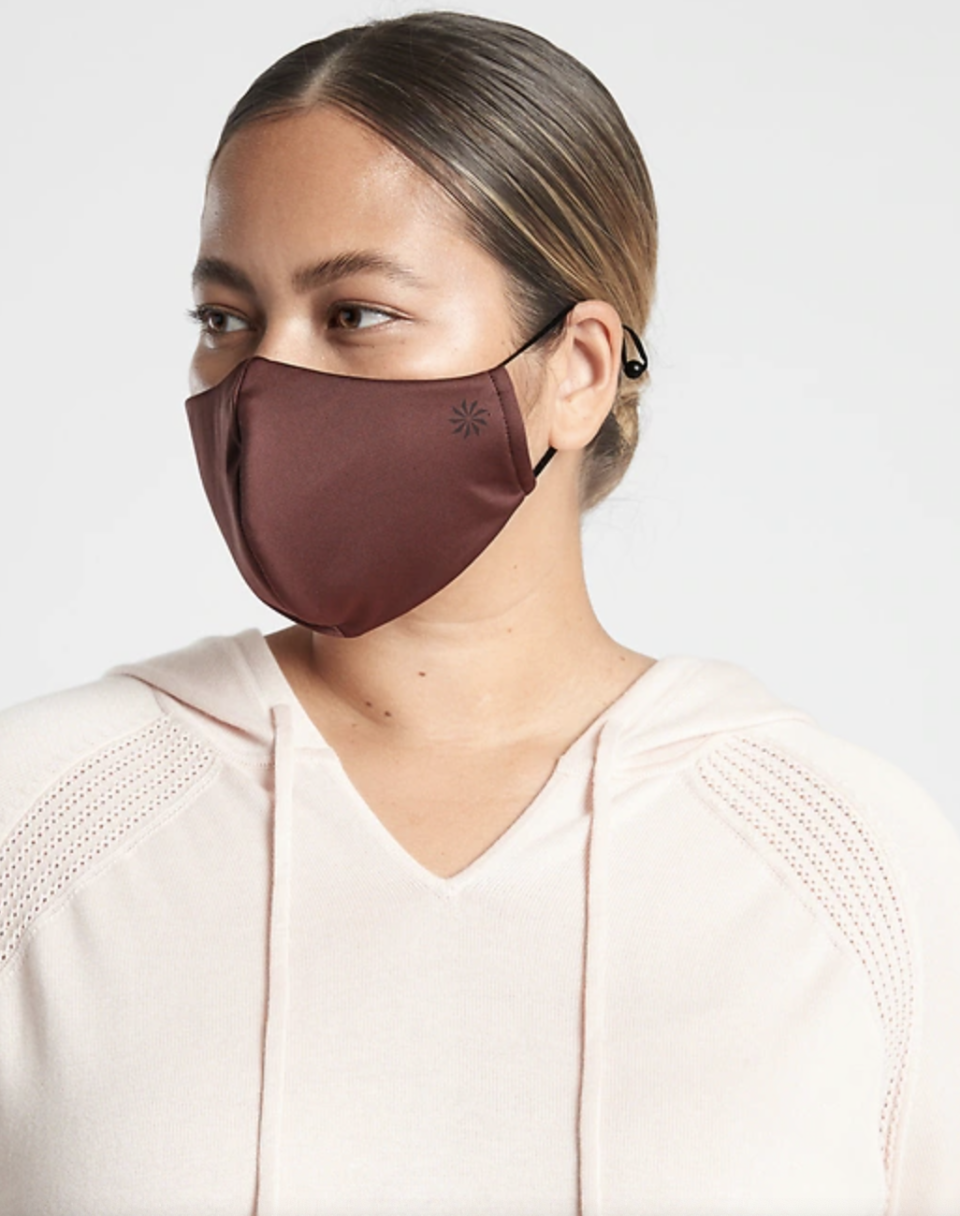 11 breathable masks to wear during your workout: Athleta Activate Face Mask 2-Pack in Island Coral/Hearth Rose (Photo via Athleta)