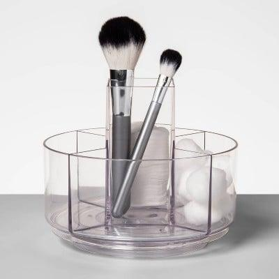 <p>Keep your most used products in this <span>Made By Design Make-Up Turntable Beauty Organizer</span> ($14). It will help streamline your morning routine so you can get on with the day.</p>