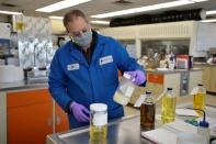 Tallow at Parkland Fuel's refinery laboratory in Burnaby