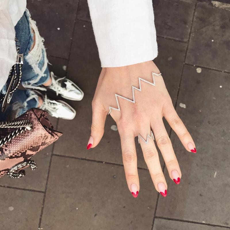 Nailed it: Rosie is a fan of nail art (Rosie Fortescue)
