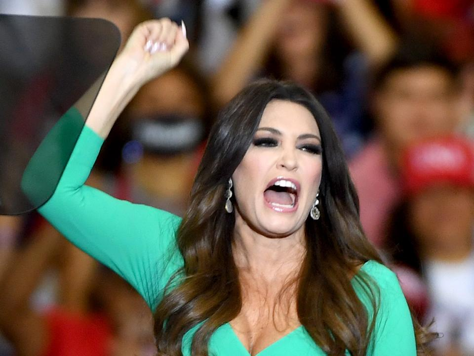 Kimberly Guilfoyle speaks at a September 2020 campaign event in Henderson, Nevada.