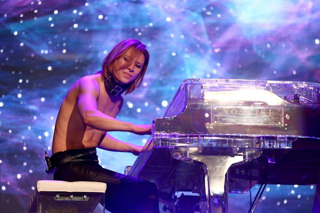 Yoshiki of X Japan at Coachella. (Photo: Rich Fury/Getty Images)