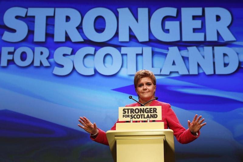 The First Minister said an indepedent Scotland would guarantee the rights of EU citizens (REUTERS)