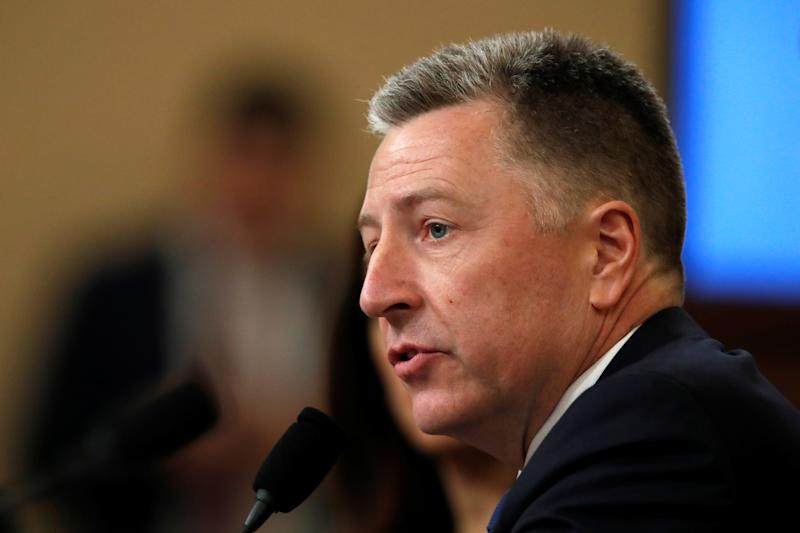 Ambassador Kurt Volker, former special envoy to Ukraine, testifies before the House Permanent Select Committee on Intelligence during a hearing on the impeachment inquiry into US President Donald J. Trump at Capitol Hill, in Washington, Nov. 19, 2019. (Photo: Alex Brandon/Pool via Reuters)
