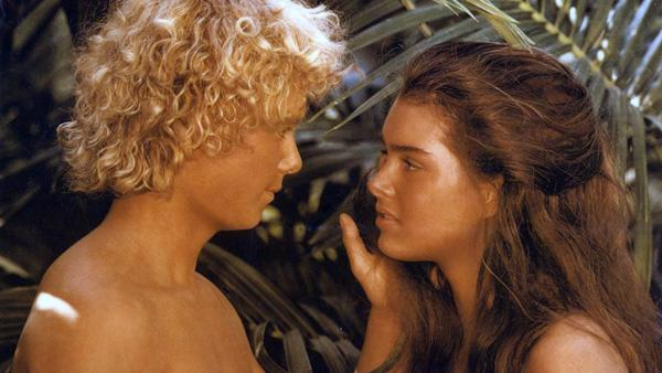 """The Blue Lagoon"" — This 1980s coming-of-age tale about two young castaways who eventually fall in love was based the 1908 novel ""The Blue Lagoon.""  Set in the late Victorian era, the film stars Brooke Shields and Christopher Atkins as cousins Emmeline and Richard Lestrange, who survive a shipwreck and grow up on a small island with no other human contact. Over the course of the film, the pair's simple existence on the island is complicated by puberty, unfriendly natives, and potential rescue."