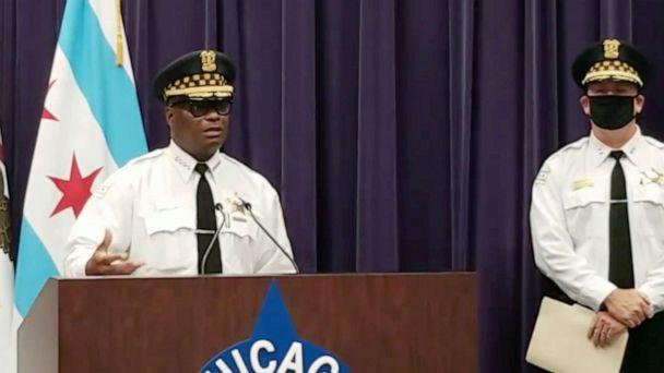 PHOTO: Chicago Police Superintendent David Brown speaks to the media about weekend shootings, Sept. 6, 2021, in Chicago.  (Chicago Police Dept.)
