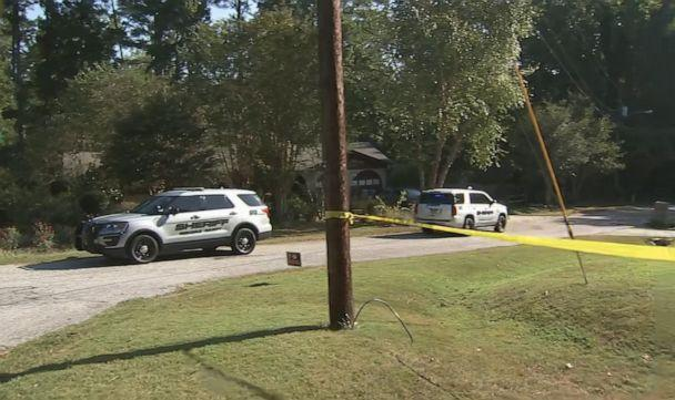 PHOTO: Rockdale County Sheriff's vehicles are pictured outside the scene where a homeowner shot and killed three men who were wearing masks early Monday morning on Sept. 16, 2019, in Rockdale County, Ga. (WSB-TV)