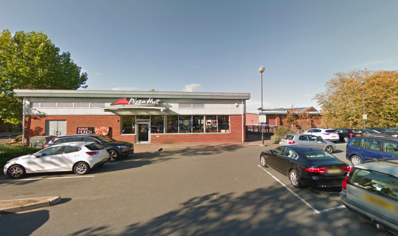 The incident took place close to Pizza Hut by the Shrub Hill Retail Park on Tallow Hill in Worcester (Google)