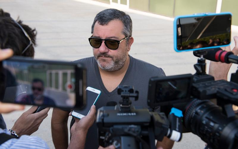 Football agent Mino Raiola speaks to the press - GETTY IMAGES