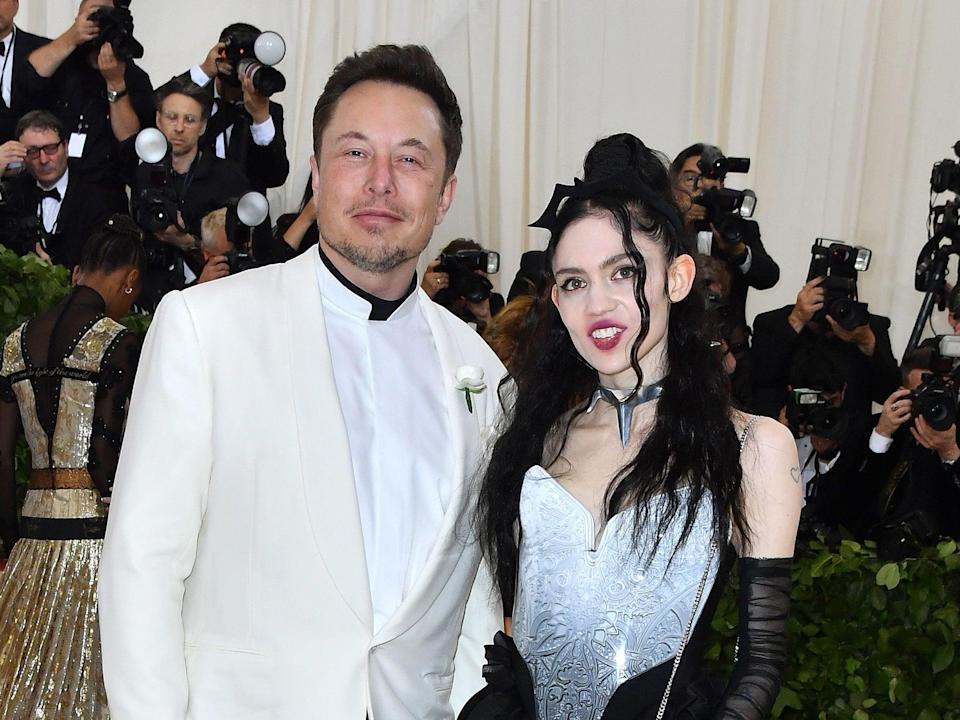 Elon Musk and Grimes at the 2018 Met Gala (Angela Weiss/AFP/Getty Images)