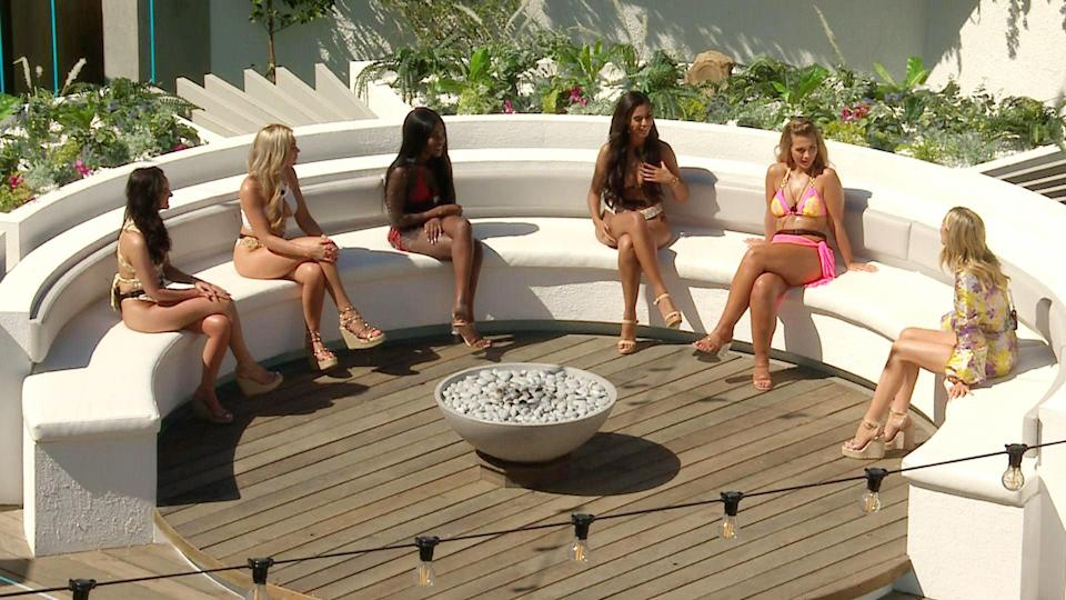 The fire pit: the girls from season six of the show, which was filmed in South Africa (ITV)