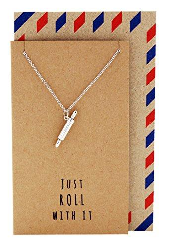 Quan Jewelry Rolling Pin Necklace, Gifts for Chefs, Gift for Bakers Mom and Cooking Lovers. Tiny Kitchen Stainless Steel Pastry Maker, Gifts for Mom on Mother's Day & Christmas (Amazon) (Amazon / Amazon)