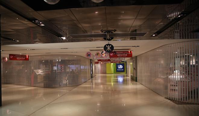 Admiralty is deserted after the station was closed on Tuesday. Photo: Winson Wong