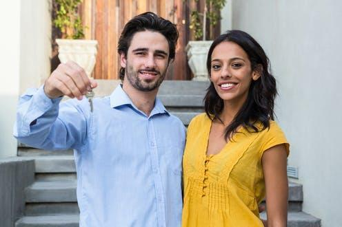 "<span class=""attribution""><a class=""link rapid-noclick-resp"" href=""https://www.shutterstock.com/image-photo/happy-hispanic-couple-front-new-house-340228955"" rel=""nofollow noopener"" target=""_blank"" data-ylk=""slk:wavebreakmedia/Shutterstock"">wavebreakmedia/Shutterstock</a></span>"