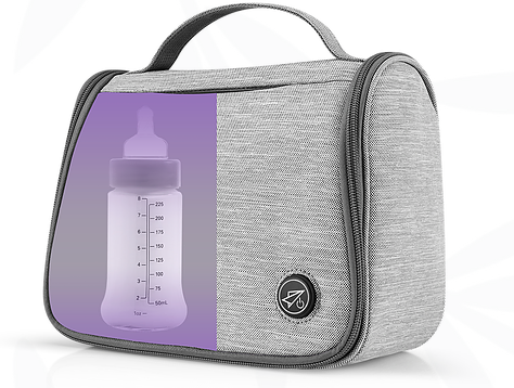 The RochiLou's 59S UV Sterilization Bag eliminates 99.9% of germs and bacteria from bottles, teets, dummies, teethers, small toys, breast pumps and accessories. Photo: RochiLou