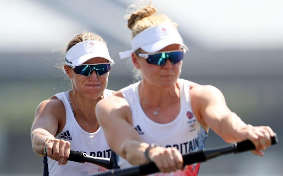 Helen Glover's bid for third Olympic gold suffers blow with below-par display in heat - GETTY IMAGES