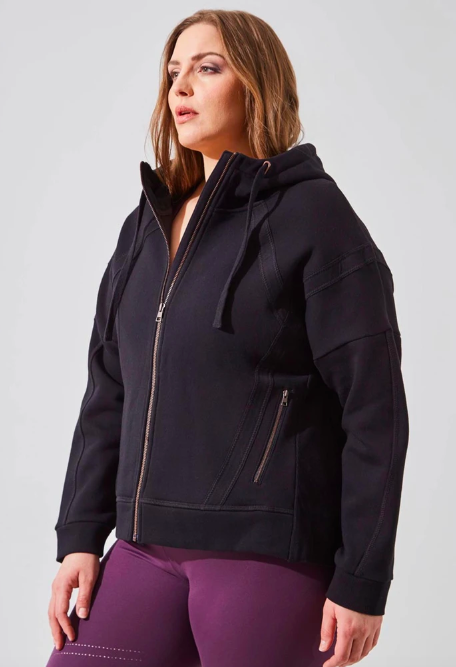 Aspire Recycled Organic Cotton Cropped Hoodie. Image via MPG Sports.