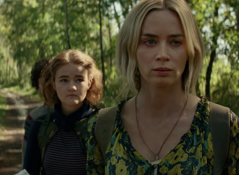 Emily Blunt, Millicent Simmonds and Noah Jupe in the first teaser for 'A Quiet Place: Part II'. (YouTube / Paramount Pictures)