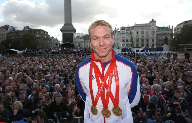 Chris Hoy won three golds in China 13 years ago (Steve Parsons/Pool/PA)