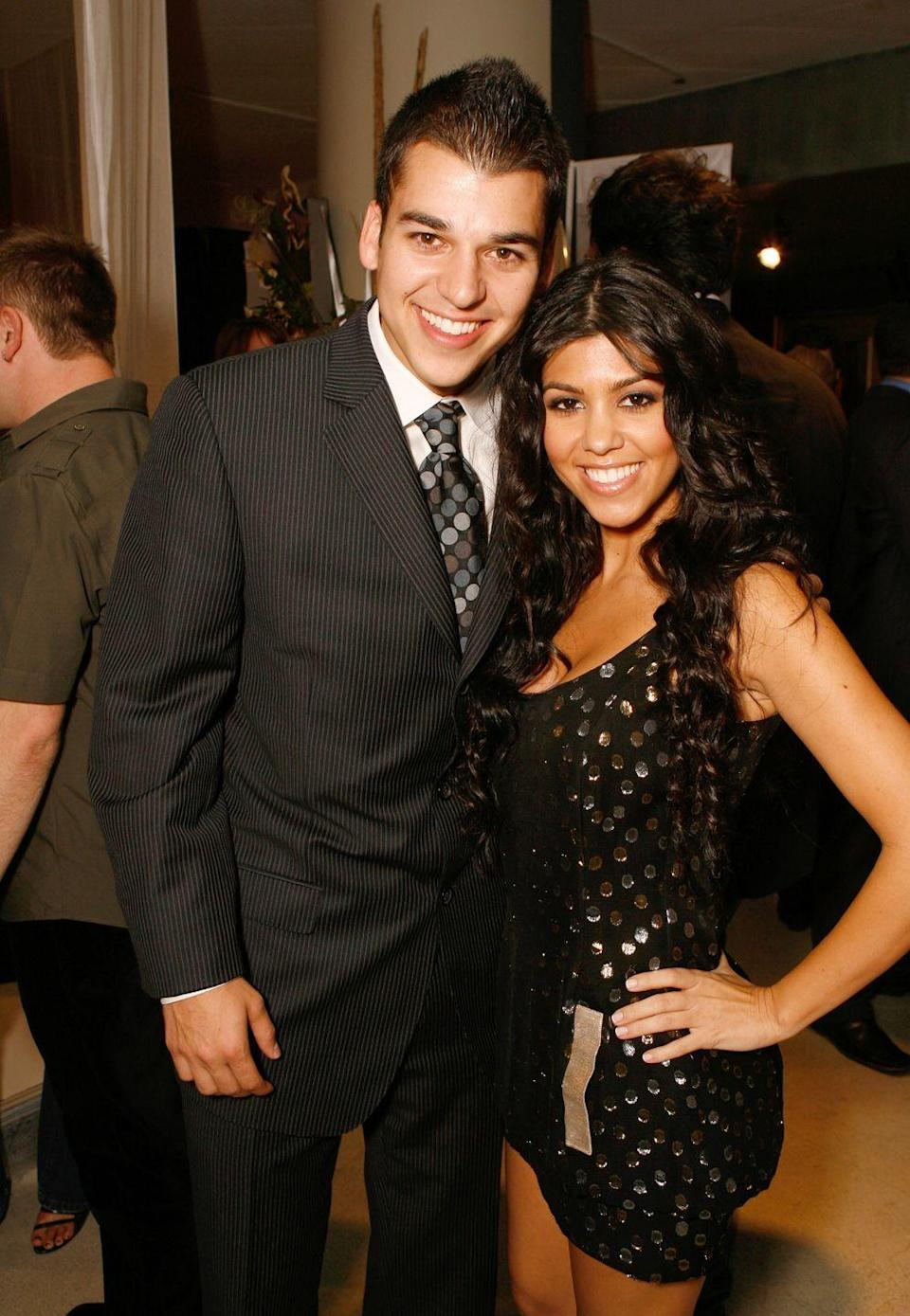 <p>While Rob has a lot of sisters, he looks the most similar to his oldest, Kourtney Kardashian. Both inherited their father, Robert Kardashian's, brown eyes and megawatt smile. </p>