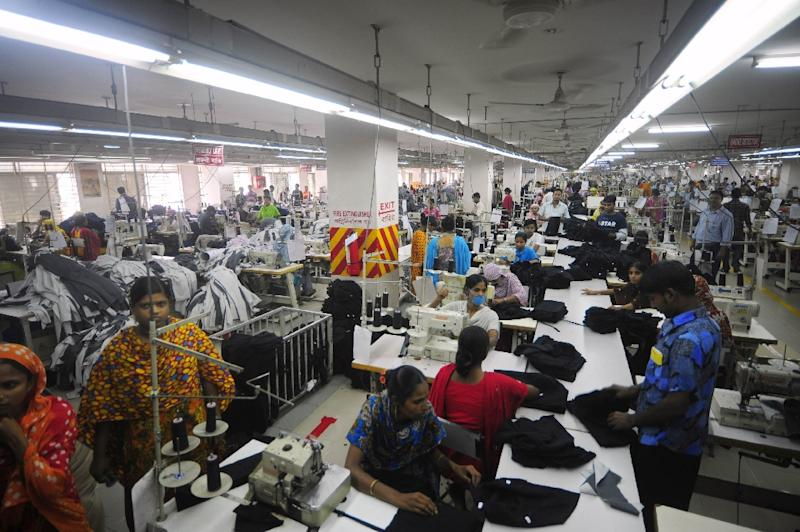 Bangladesh's clothing industry last year accounted for 80 percent of the country's $35-billion exports