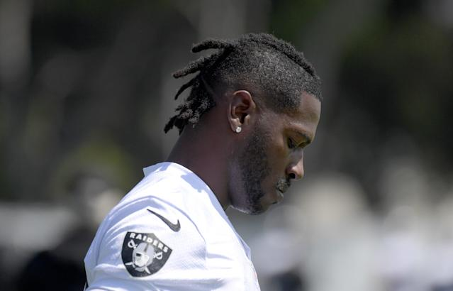 Just as he reportedly settled one lawsuit, Antonio Brown is facing another one in California. (Getty)