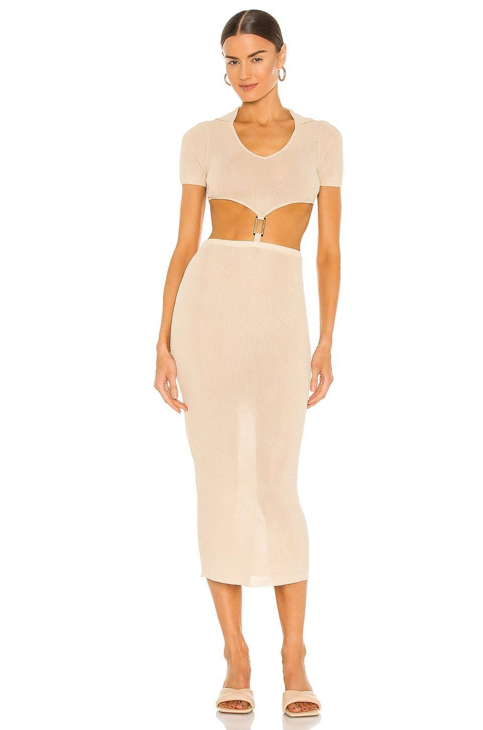 <p>Enjoy all the sunshine this season in this sexy <span>Aya Muse Bella Dress</span> ($256, originally $365). We think the metal detail at the waist is so fun.</p>
