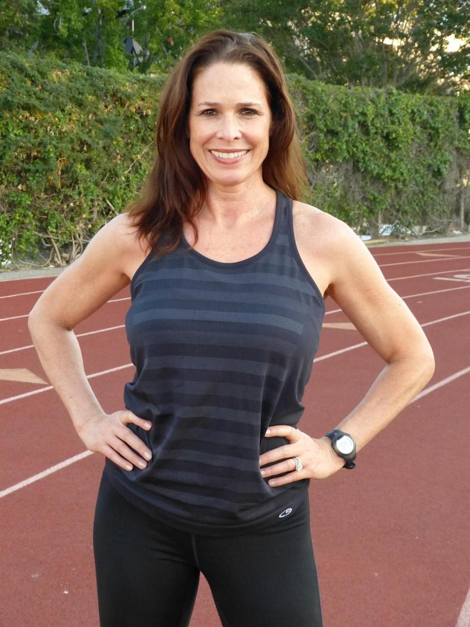 """<p>I run marathons because they prepare you for life. I'm never more disciplined, tough, focused, and ambitious than I am when I'm training for a marathon.</p><p><i>—Treva Brandon Scharf, 52, Beverly Hills, California. Five-time marathon finisher, certified personal trainer, <a href=""""https://www.laprogressive.com/author/treva-brandon/"""" rel=""""nofollow noopener"""" target=""""_blank"""" data-ylk=""""slk:fitness blogger"""" class=""""link rapid-noclick-resp"""">fitness blogger</a>. </i></p>"""