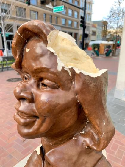 A bust honoring Breonna Taylor was smashed in Oakland over the weekend.