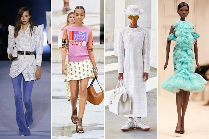 Photos from Milan and Paris fashion weeks in fall 2020.